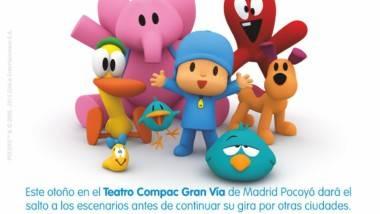 El show en vivo de 'Pocoyó y sus amigos', todos los fines de semana en el Teatro Compac Gran Vía