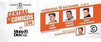 'Central de Cómicos Live' en Moby Dick Club de Madrid el 10 de diciembre