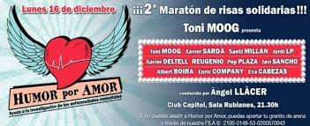 Maratón de risas solidarias: 'Humor por amor' en Club Capitol de Barcelona