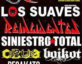 Los Suaves, Reincidentes y Siniestro Total estarán actuando en la segunda edición del Rivas Rock