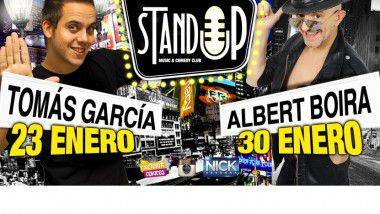 Tomas García y Albert Boira en 'Stand-up comedy Club' de Barcelona