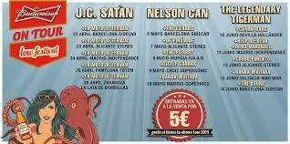 Próxima semana: J.C. Satan inauguran el Budweiser Festival on Tour
