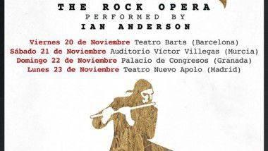 Ian Anderson estará en España en noviembre presentando 'Jethro Tull: The Rock Opera'