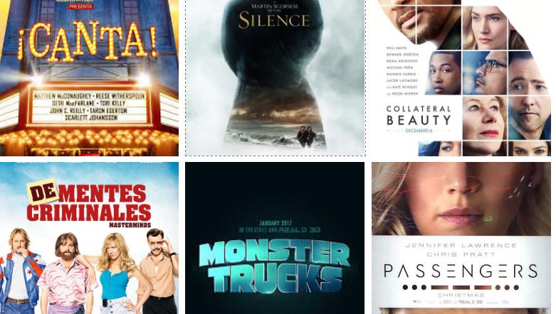 Navidad 2016: los estrenos de cine más esperados