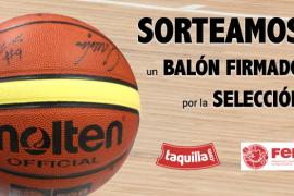 Gana un balón firmado por la Selección Española de Baloncesto en Taquilla.com