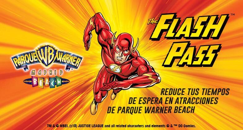 The Flash Pass: sáltate la cola en Parque Warner Beach