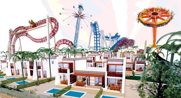 Terra Mítica construye un macro resort y no abrirá hasta 2021
