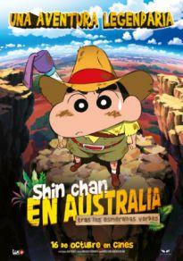 Cartel de la película Shin Chan en Australia tras las esmeraldas verdes
