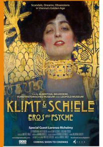 Cartel de la película Klimt y Shiele. Eros y Psyche