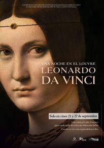 Cartel de la película Leonardo da Vinci. una Noche en el Louvre