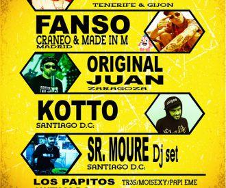 Bejo +Fanso +Original Juan + Kotto + Sr Moure + los Papitos