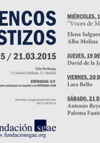 Cartel de la película Flamencos y Mestizos - Antonio Lizana   Naike Ponce & Paquete