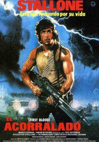 Cartel de la película Acorralado (Rambo)