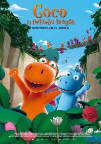 Cartel de la película Coco, el pequeño dragón. Aventuras en la Jungla
