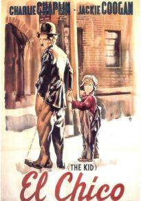 Cartel de la película El chico (Charlie Chaplin)