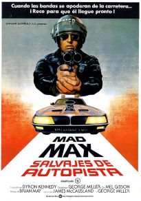 Cartel de la película Mad max Salvajes de la Autopista (Vose)