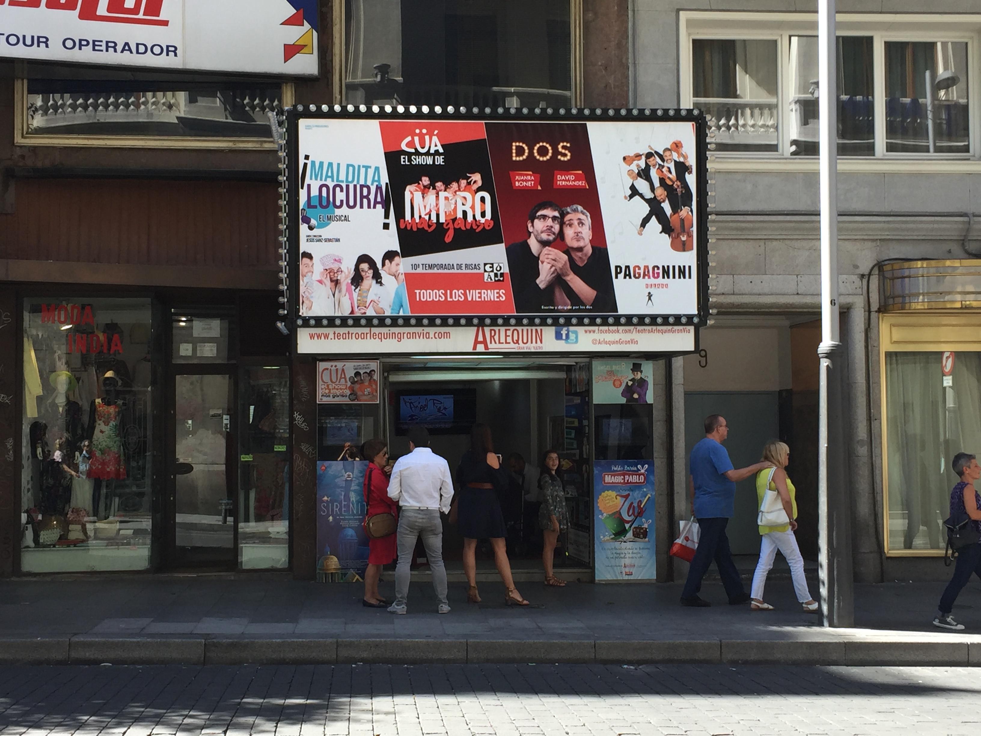 Sacar entradas de cines y teatros teatro arlequ n gran v a for Entradas cine barcelona